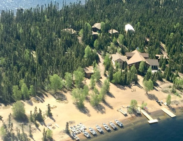 Ena Lake Lodge Aerial